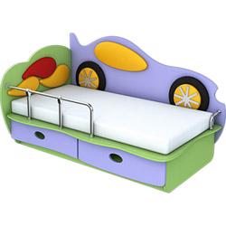 Фото Кровать Машинка 140 Лунная Сказка Цвет 1
